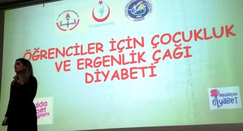 Okulda diyabet semineri düzenlendi